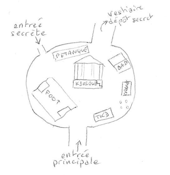 Plan des arènes