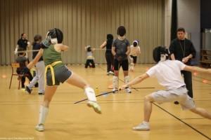 Soirée assauts de canne de combat par équipes le mercredi 31 octobre 2012.