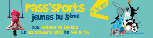 Pass'Sports Jeunes du 5ème arrondissement de Paris le 20 octobre 2012