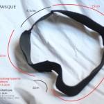 2ème version des tours de masque, avec élastique noir et bandes plus larges.