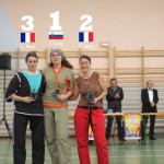 Podium Femmes Internationaux canne de combat 2013