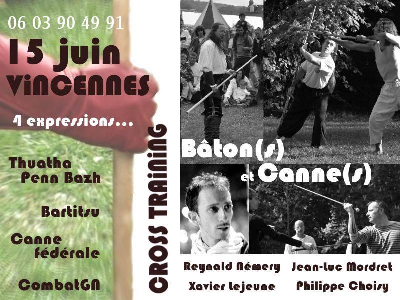 Stage de cannes, bâtons à Vincennes avec 4 spécialistes