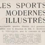 """La canne dans le livre """"Les sports modernes illustrés"""" de 1906."""