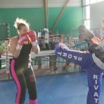 Démonstration équipe de France féminine de Savate Boxe Française