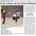 Article du Parisien : Sélénia, cette championne du monde inconnue de canne de combat
