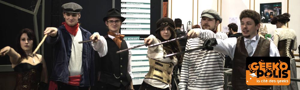 Geekopolis 2015 - la canne de combat dans la Cité des Geeks, avec Apaches de Paname et Canne et Dragons