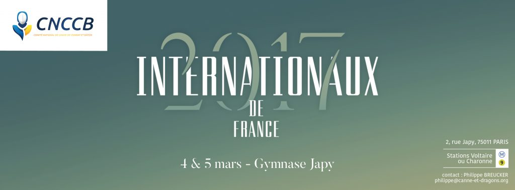 Internationaux 2017 - canne de combat Paris