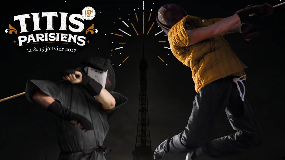 Titis Parisiens 2017, compétition de Canne de combat par équipes