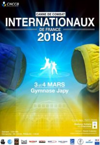 Affiche officielle internationaux 2018 de canne de combat paris japy apaches de paname