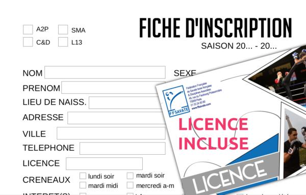Fiche inscription adhésion apaches de paname canne de combat licence ffsbf&da