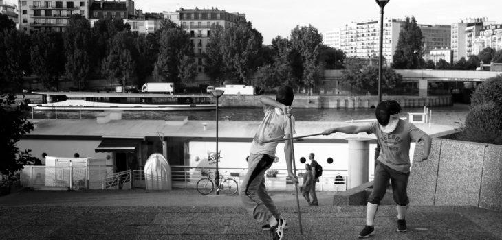 Cours en extérieur - Canne de combat Paris - Apaches de Paname