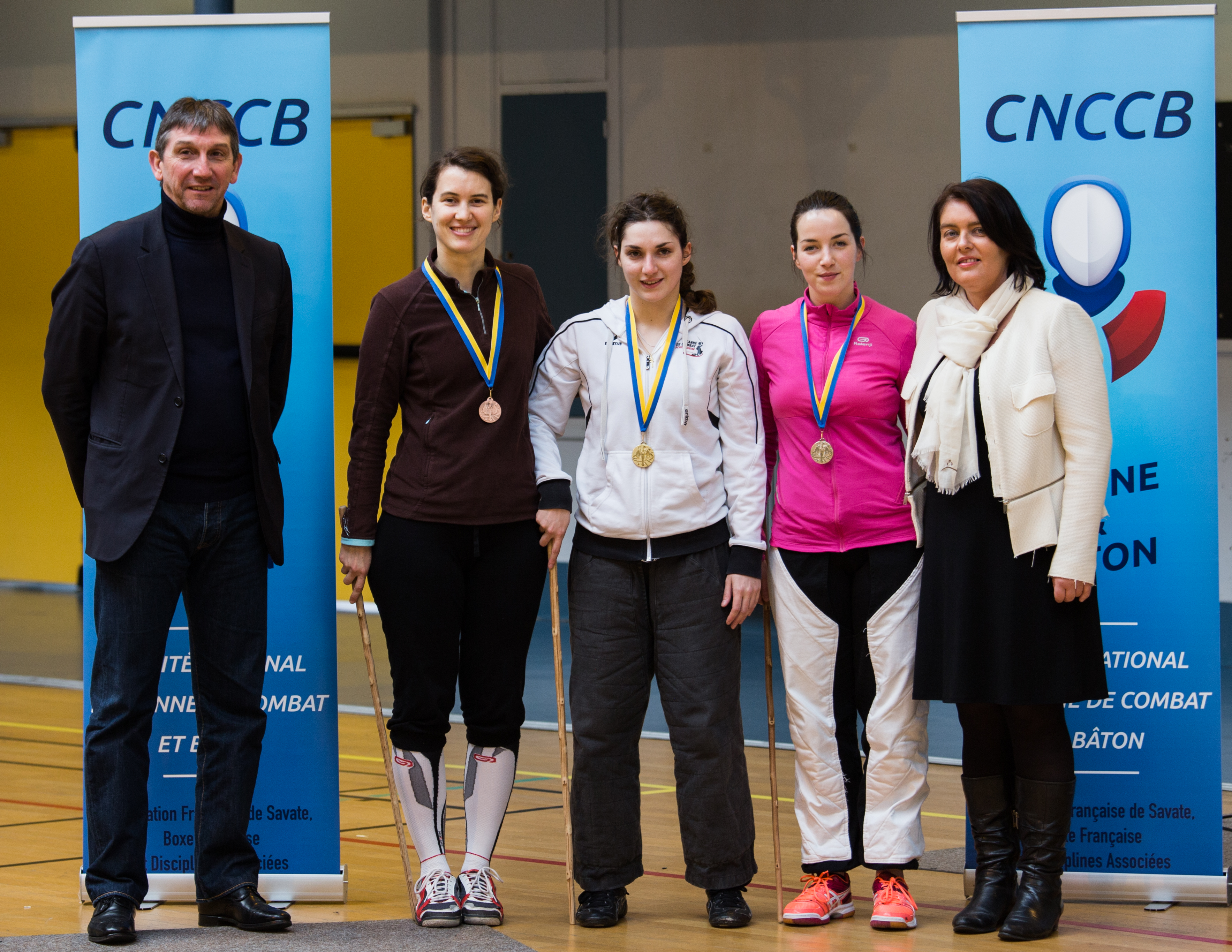 Internationaux 2017 de canne de combat, paris, podium
