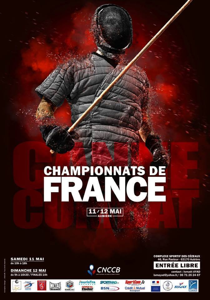 canne de combat championnat de france 2019 clermont-ferrand affiche