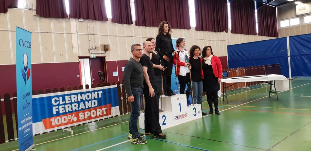 canne de combat championnat de france 2019 clermont-ferrand podium